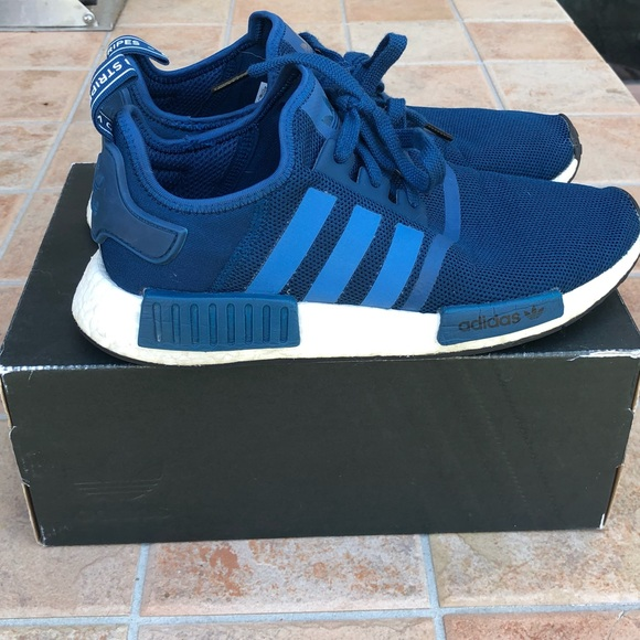 adidas Shoes | Nmd R1 Blue Night Size
